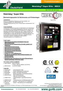 Technisches Datenblatt - WDC4 (Watchdog Super Elite)