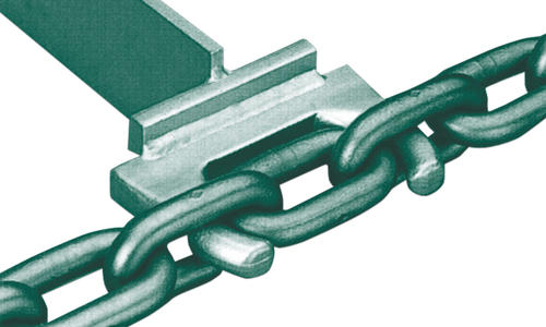 flight bar for round link chains