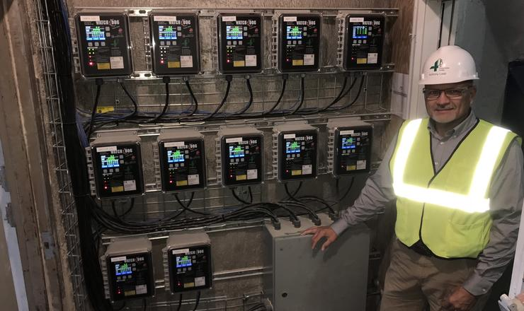 Watchdog Super Elite and Flex-Net Industrial Ethernet Systems installed in control room