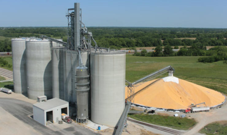 installation de manutention des grains