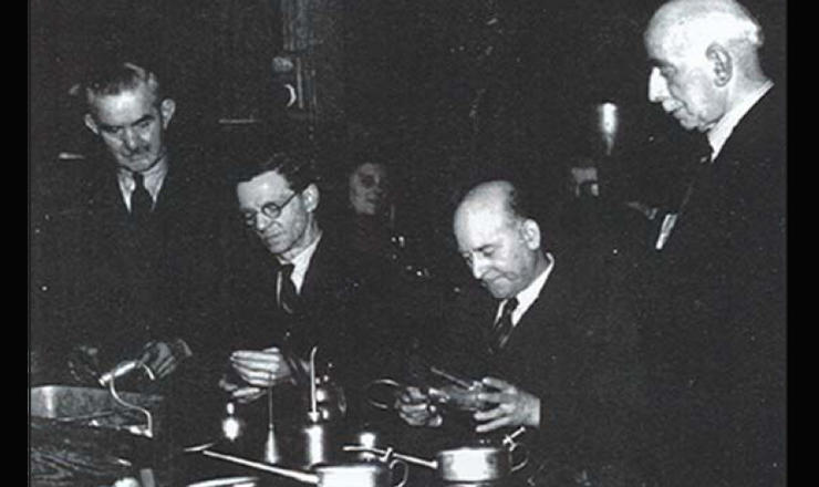 T.F. Braime Pictured (Far Right) - 1943